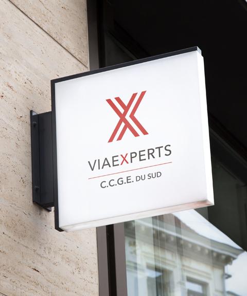 Façade du cabinet d'expertise comptable ViaExperts CCGE du Sud